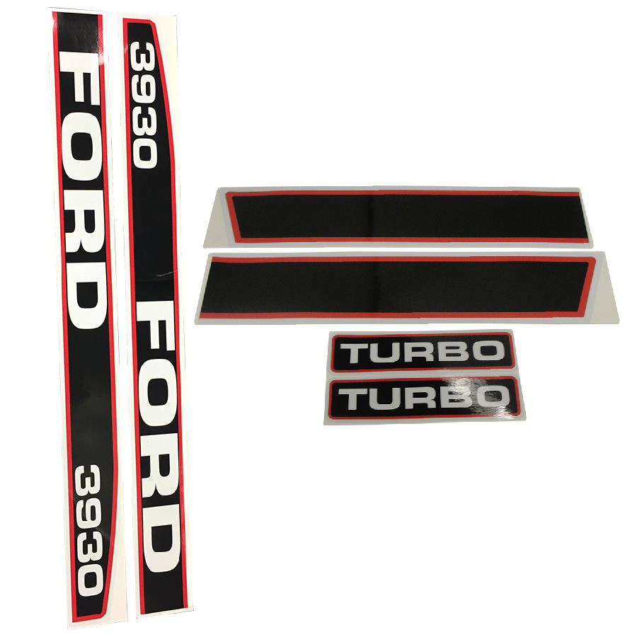 1115-1582 - Ford  New Holland Decal Set 3930 Ford Tractor Hood Decal Kit