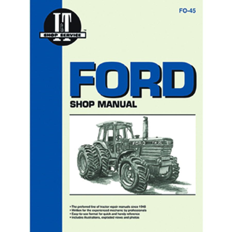 1115-2225 - Ford  New Holland Service Manual 160 Pages  Does Not Include Wiring Diagrams