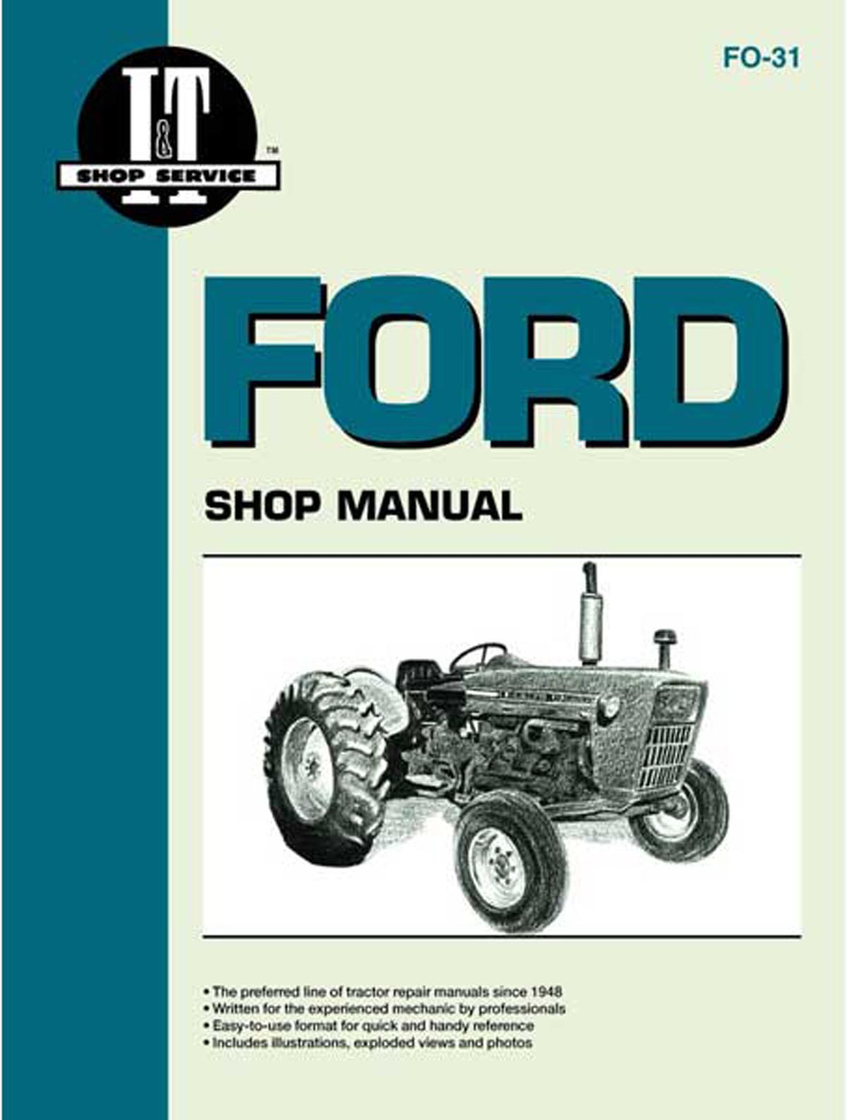 it s fo31 i t shop service manual ford n tractor parts parts